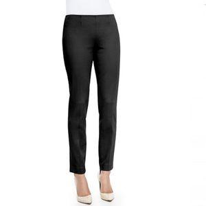 Theory Belisa Black Slim Cropped Ankle Twill Pants